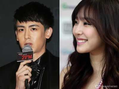 tiffany尼坤 2PM成员尼坤和少女时代Tiffany公开恋情